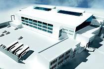 Takto by vypadal modernizovaný zimní stadion, pokud se zastupitelé krajského města v únoru rozhodnou pro zrealizování varianty C opravy hokejové arény.