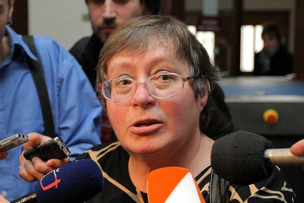 Soudního procesu se účastnili i někteří z poškozených. Na snímku Eva Nová.