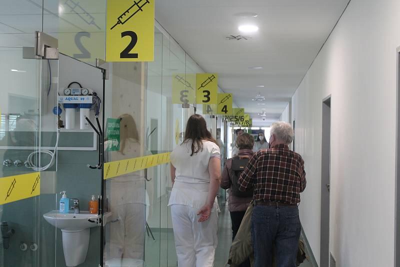 Očkovací centrum v Jihlavě.