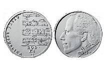 Mince byla vytvořena podle lícní strany návrhu slečny Miroslavy Česlové a rubové strany návrhu Josefa Oplištila. Na lícové straně je úryvek z notového zápisu, na rubu podobizna Gustava Mahlera z profilu.