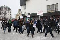 """""""Stop ACTA"""", skandovala na jihlavském náměstí asi stovka aktivistů"""