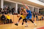 Basketbalové utkání mezi BC Vysočina a USK Praha B ze dne 16. února 2020 v Jihlavě.