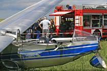 Letecká nehoda kluzáku u Přibyslavi.