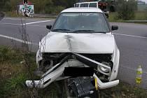 Smyk na mokré vozovce byl příčinou dopravní nehody u Třeště na Jihlavsku.
