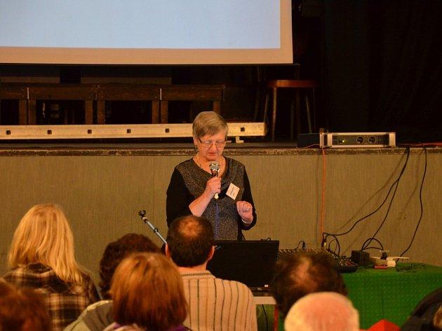 Zakladatelka. Marie Svatošová navštívila před časem s přednáškou na téma hospic také Havlíčkův Brod.