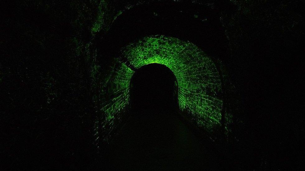 Svítící chodby podzemí jsou raritou Jihlavy.