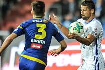Utkání 22. kola první fotbalové ligy: FC Baník Ostrava - 1. FC Vysočina Jihlava, 30. března 2018 v Ostravě. (vpravo) Milan Baroš.