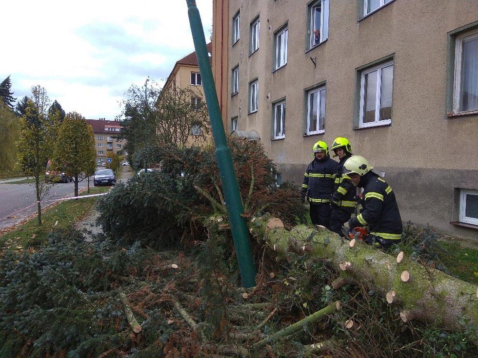 Zásah hasičů z JSDH Jihlava Bedřichov.