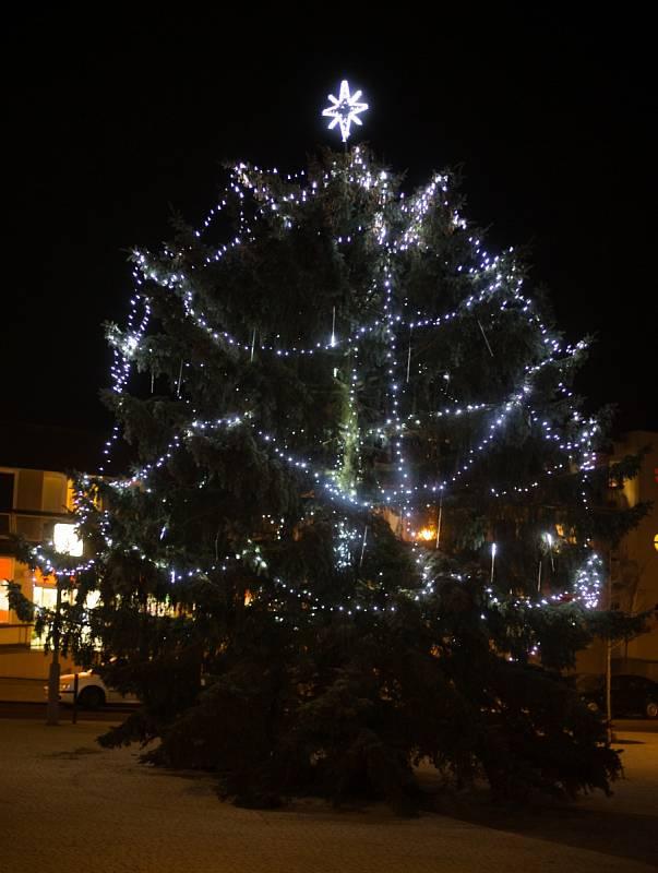 Vánoční strom ve Ždírci nad Doubravou.