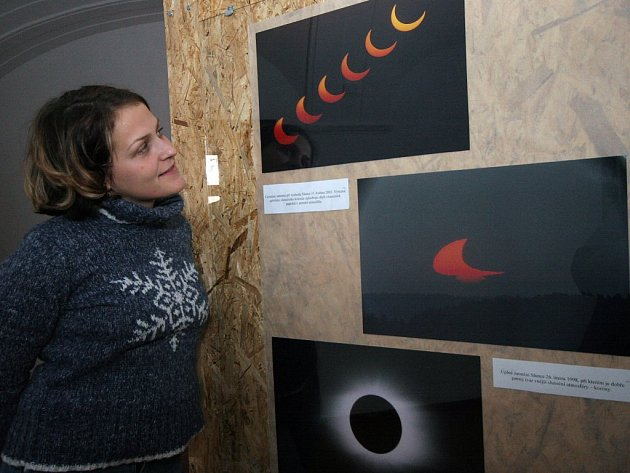 Výstava fotografií astronomických a meteorologických jevů v Třešti.