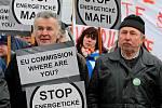 Demonstrace proti údajně vysokým cenám energie v Jihlavě