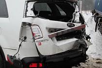 U obce Leština na Havlíčkobrodsku se střetlo osobní auto s nákladním vlakem. Příčinu nehody šetří policie.