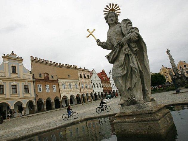 Telč je památkou UNESCO.