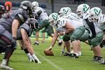 Utkání amerického fotbalu mezi Vysočina Gladiators a Brno Alligators.