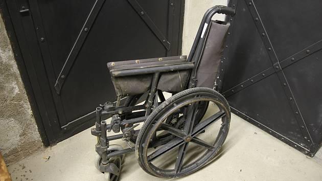 Nalezený invalidní vozík.