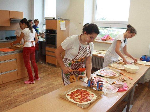 Pizza proti povodním v Základní škole Rošického v Jihlavě.