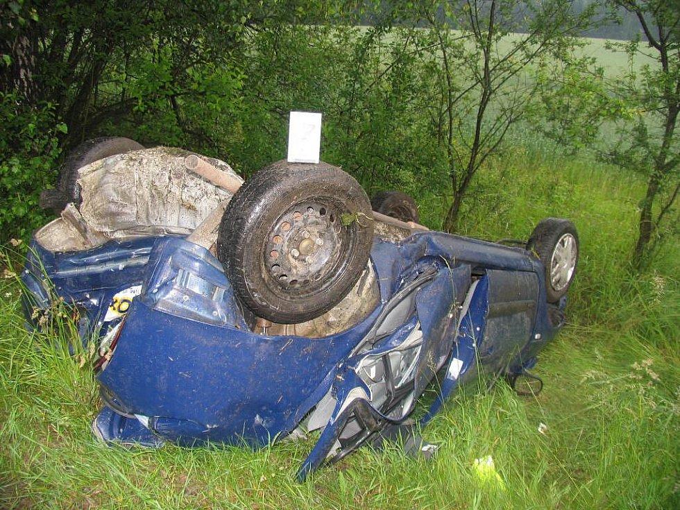 Středeční dopravní nehoda  u Hosova.