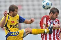 Z fotbalového utkání FK Viktoria Žižkov - FC Vysočina Jihlava.