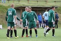 Fotbalisté Brtnice smetli Starou Říši B 8:2. Čtyřmi góly se blýskl Štěpán Diviak.