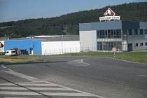 Zatáčka směrem od Třeště na Kostelec u masny.