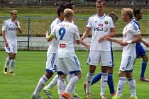 Radosti ze vstřelené branky si užili jihlavští fotbalisté v Žirovncii mnohokrát. Kéž by jim střelecká produktivita vydržela i do ligové soutěže.