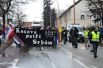 Na každém kroku na pochod dohlíželi policisté.