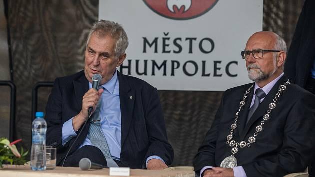 Návštěva prezidenta republiky v Kraji Vysočina v roce 2017. Setkání s občany města Humpolec.