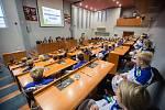 Setkání úspěšných reprezantantů a trenérů Zimní olympiády dětí a mládeže 2018 s hejtmanem Kraje Vysočina Jiřím Běhounkem.
