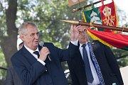 Návštěva prezidenta republiky v Kraji Vysočina v roce 2017. Setkání s obyvateli Smrčné a okolních obcí.