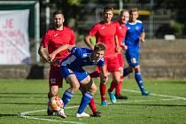 Fotbalové utkání I. kola MOL Cupu mezi FC Vysočina Jihlava a FSC Stará Říše.