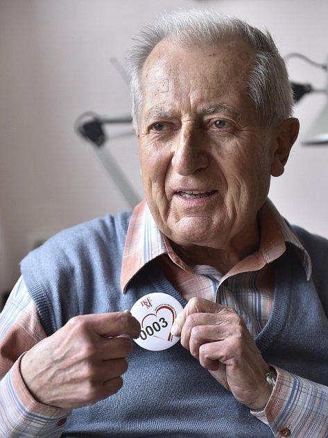 Rudolf Sekava. Byl v pořadí třetím pacientem s transplantací srdce v tehdejším Československu.