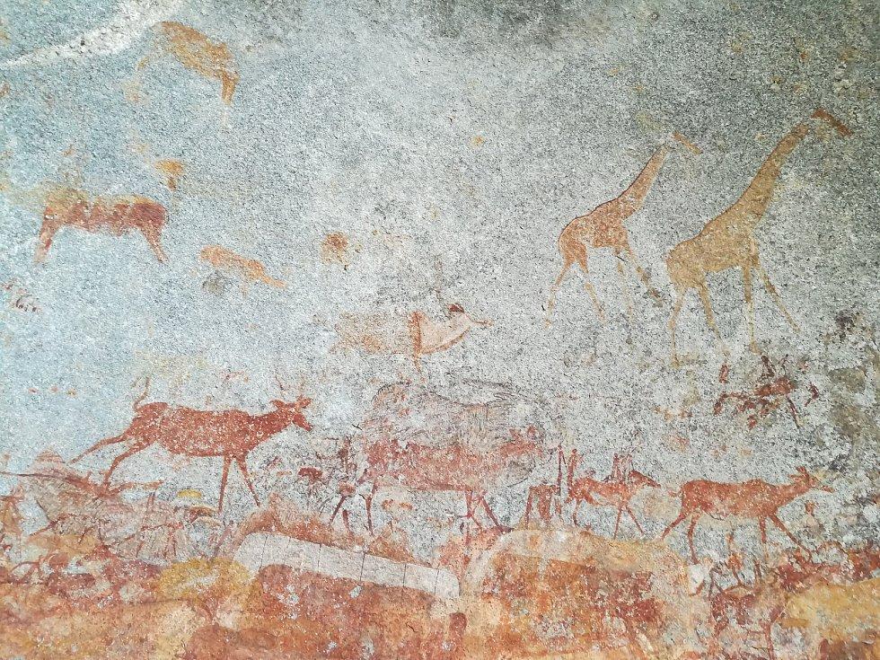 Křovácké malby v Zimbabwe.
