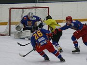 Hokejové utkání JČ přebor mužů mezi SK Telč a TJ Lokomotiva Veselí nad Lužnicí.