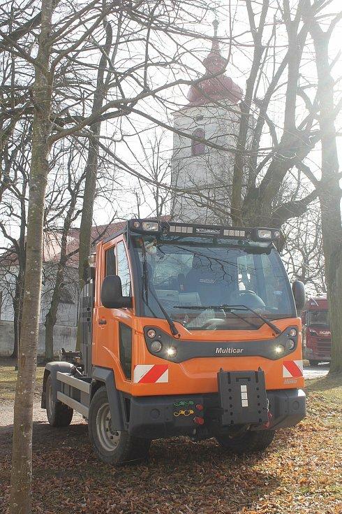 Nový vůz Multicar M31C je v Brtnici od začátku letošního roku.