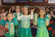 Dětský karneval v Telči.