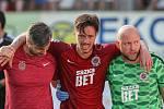 Utkání 28. kola první fotbalové ligy: FC Vysočina Jihlava - AC Sparta Praha.