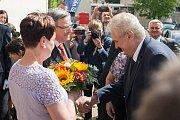 První den návštěvy prezidenta republiky v Kraji Vysočina. Setkání se zastupitely na Krajském úřadě.