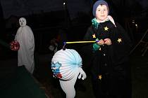 Halloweenský průvod ve Vyskytné nad Jihlavou