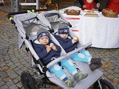 Na sladkém koláči si pochutnaly i děti.
