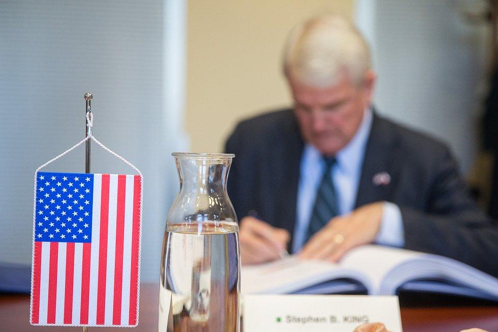Americký velvyslanec Stephen King na Vysočině.