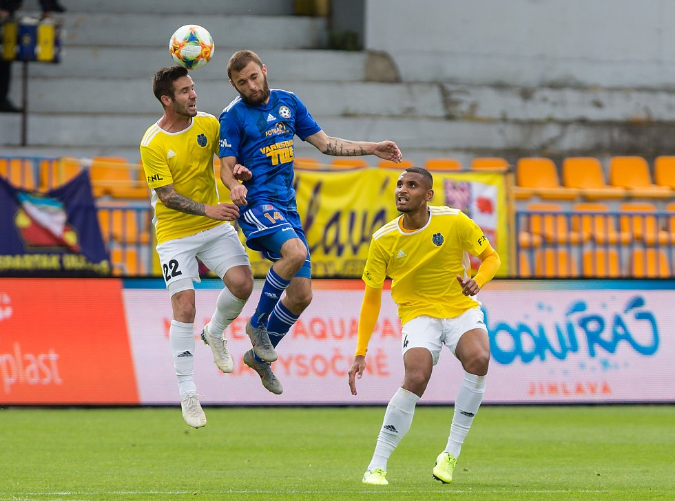 Fotbalové utkání 19. kola FNL mezi FC Vysočina Jihlava a FK Varnsdorf.