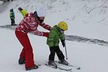 První lyžování na Šacberku.