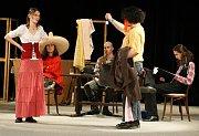 V jihlavském Divadle Na Kopečku začal již osmý ročník studentského divadelního festivalu s názvem JID–20–08. Na snímku je zachycen divadelní soubor Negatyv z Telče, který představil svou autorskou hru Wanted.
