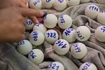 Během odpoledne padl v City Parku Jihlava nový český rekord - největší déšť ping-pongových míčků.