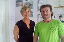 Důležití členové. Předseda KCTM Judo Vysočina Martin Bohdálek má s organizací klubu plné ruce práce. V zápřahu je i kondiční trenérka Lída Milfaitová.