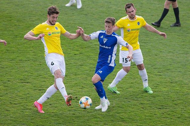 Fotbalové utkání mezi FC Vysočina Jihlava a FC Vlašim.