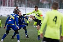 Přípravné fotbalové utkání mezi FC Vysočina Jihlava a FK Ústí nad Labem ze dne 28. února 2020.