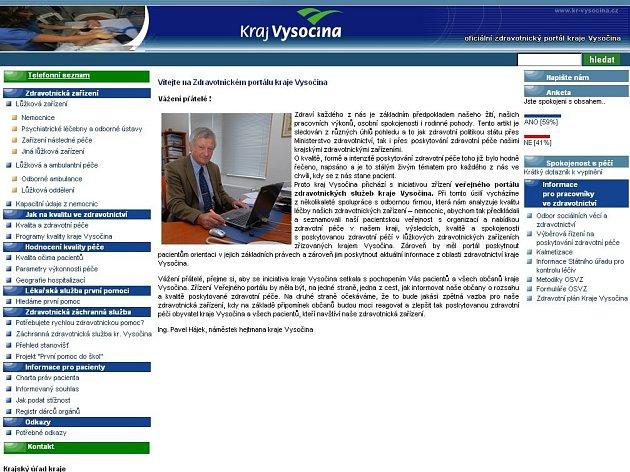 Internetový portál zdravi-vysociny.cz