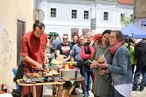 Takto to vypadalo na prvním ročníku Restaurant Day v Třešti v roce 2019.