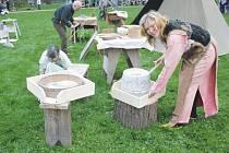 Zámecký park v Telči před dvěma lety o filipojakubské noci, tedy v noci z 30. dubna na 1. května, hostil oslavy původního keltského svátku Beltine.